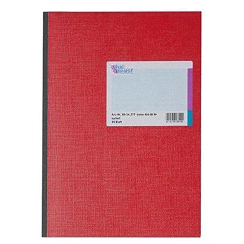 König & Ebhardt 8614272 Geschäftsbuch/Kladde (A4, kariert 70g/m², 96 Blatt Klebebindung)