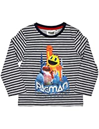 Pacman Official Boys T-Shirt Long Sleeve 3/8 Years