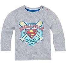 Tee Shirt Manga Larga Bebé Niño Logo Superman gris de 3a 24Meses