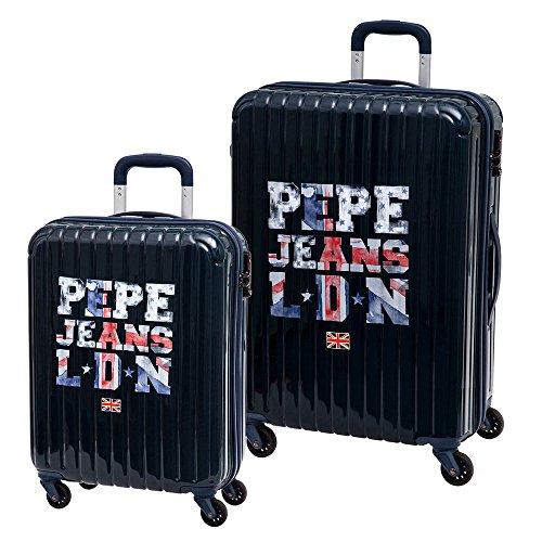 Pepe Jeans Set de Maletas Medianas, 72 Lt, Color Azul