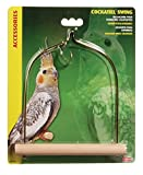 Living World Bird Swing with Wooden Perch for Cockatiels