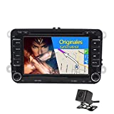 Foiioe 17,8 cm écran tactile HD WinCE 6.0 DE VOITURE Autoradio stéréo avec lecteur DVD Navigation GPS Bluetooth radio GPS pour VW Touran Passat Scirocco Beetle Golf Mk5 MK6 Assise Sharan T5 Tiguan Golf Caddy Skoda Octavia