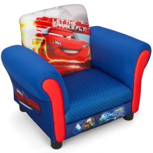Delta Children's Products Disney Cars Armlehne Stuhl mit Holz Innenteil Einzelsofa Kindersofa Sitzplatz Sessel