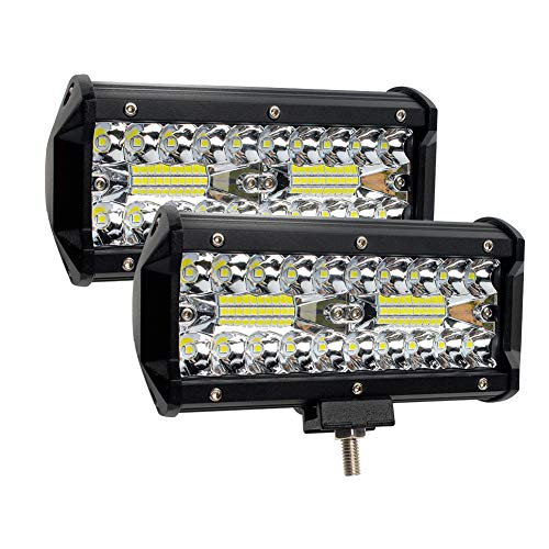 Barre luminose a LED, GES 2Pcs 240W 6.5Inch 24000lm Faretti a incasso a LED Off Road Lights Luci a nebbia/luci a LED Super Bright/Luci di lavoro