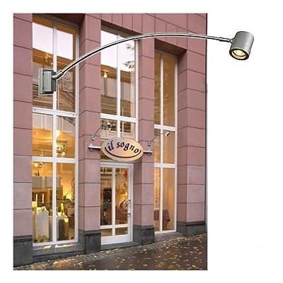 SLV Myra CurveD Displaystrahler, silbergrau, GU10, maximal 50 W, IP55 228812 von SLV bei Lampenhans.de