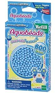 Aquabeads- Solid Beads, Color Azul Claro (Epoch para Imaginar 32558)