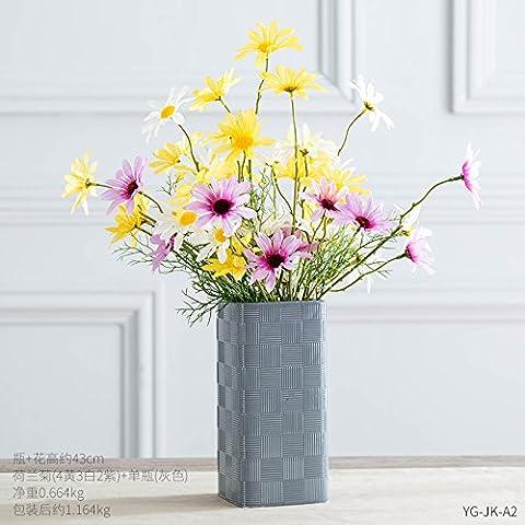 Lx.AZ.Kx Personnalité créatrice des vases à fleurs séchées Fleurs d'émulation Fleurs Ornements Meuble Tv Table Ameublement Fleuriste Petit Freshi, section