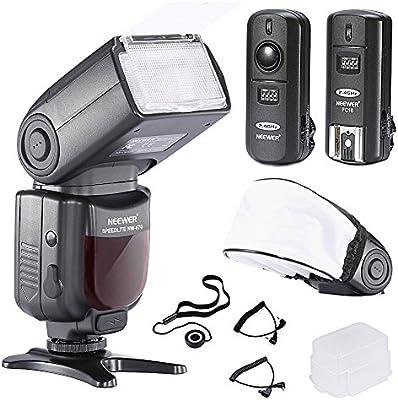 Neewer® Pro nw670S de flash TTL Flash Flash-Dispositivo para Canon EOS 700d 650d 600d 1100d 550d 500d 450d 400d 100d 300d 60d 70d DSLR de cámaras, Rebel T3T5i T4i T3i T2i T1i XSi XTi SL1, cámaras compactas Canon EOS M-Cámara de Incluye: Neewer-Auto de enfoque Flash con pantalla LCD + de 2,4GHz Wireless disparador + 2Cable (C1de C3+ Cable de cable de cable) + rígida & Suave-Difusor de flash + Tapa de lente plana