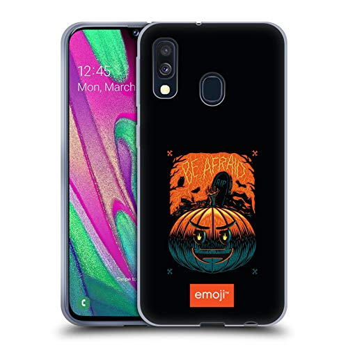 Head Case Designs Offizielle Emoji® Kürbis Halloween Soft Gel Huelle kompatibel mit Samsung Galaxy A40 (2019)