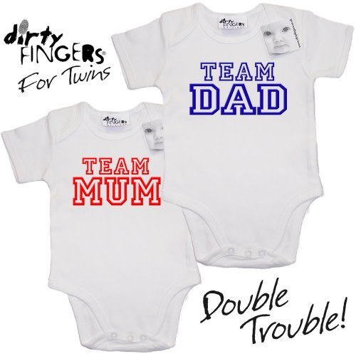 dirty-fingers-for-twins-team-mum-team-dad-2-x-baby-toddler-short-sleeve-bodysuits-baby-grows-0-3-mon