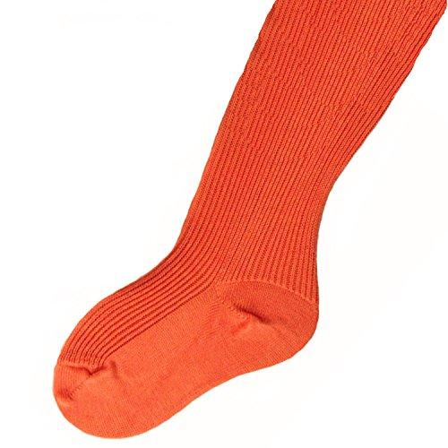 Kinderstrumpfhose 100% Baumwolle uni viele Farben Farbe: orange, Größe: 134/146