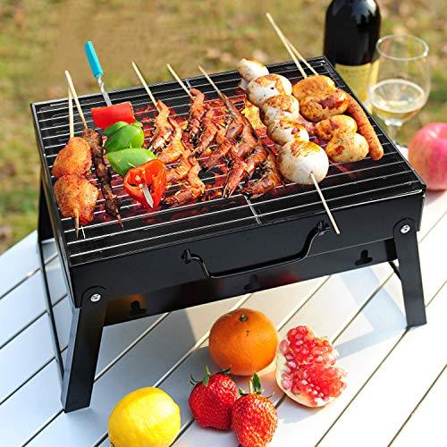 Grill BBQ Holzkohlegrill Kleinen Grill Mini Grill Faltbare Grill für Garten Camping Park Festivals Party BBQ - 6