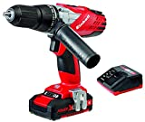 Einhell Expert TE-CD 18-2 Li-I Kit - Taladro percutor sin cable (batería de litio, 1.5 Ah, incluye maletín Bmc, 2 velocidades, 48 Nm, Power X-Change,