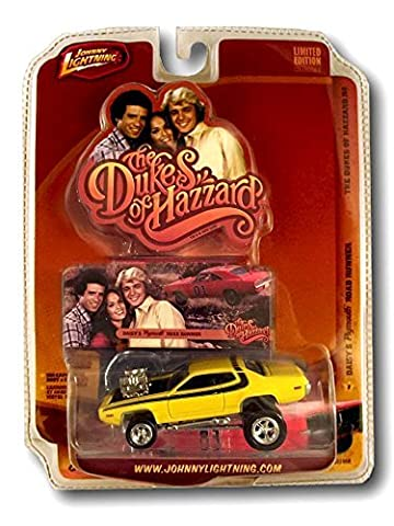 The Dukes of Hazzard Yellow Daisy's Plymouth Road Runner General Series #2 Diecast Toy Collectible High Quality Detailed Limited Edition Johnny Lightning