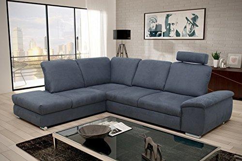 Letto Grigio Scuro : Angolare divano letto treviri l grigio scuro in microfibra