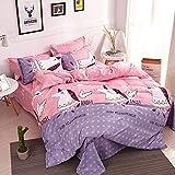 CZDXMSet di Quattro Pezzi di Trapunta per dormitorio per Studenti in Cotone di Aloe Vera, Quattro Set di 1,8 m di Letto