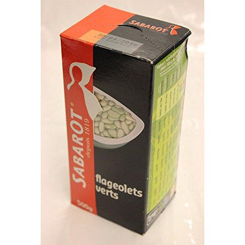 Sabarot Flageolets Verts 500g Packung (Grüne Bohnenkerne)