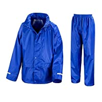 Result Kids Core Hooded Button Zip Junior Rain Suit