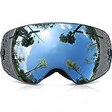 Skibrille Kinder ,COPOZZ G3 Ski Snowboard Brille Brillenträger Snowboardbrille Schneebrille Verspiegelt - Für Junior Jungen Mädchen Baby Teenager - 3 4 5 6 7 8 9 10 11 12 Jahre - OTG Anti-UV Anti-Fog (Silber)