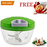 Classvilla High Quality Manual Handy Vegetable Chopper Cutter For Kitchen Chipper Onion Garlic Spice Shredder Grinder Mixer Food Processor Slicer Kitchen Chopper With Pull Cord Technology Premium ABS Quality Tripple Sharp Blades 500 ML Multipurpose