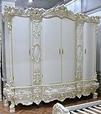 LouisXV Barock Kleiderschrank Antik Stil - Vp7730/4B antik Stil Massivholz. Replizierte Antiquitäten Buche Antikmessing.