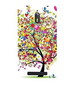 Colorful Tree 3D Hard Polycarbonate Designer Back Case Cover for Oppo Find 7