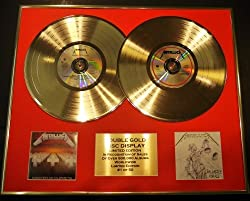 METALLICA/Zweifache Goldene Schallplatte DISPLAY/Limitierte Edition/COA/MASTER OF PUPPETS & JUSTICE FOR ALL