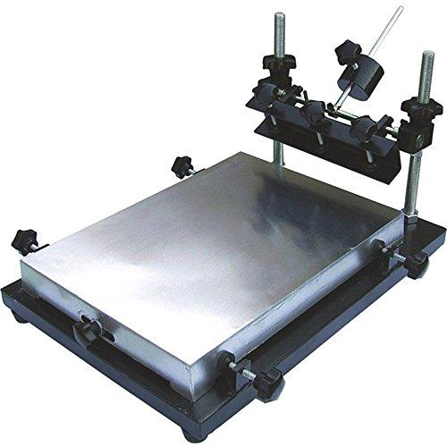 cgoldenwall Siebdruck Tisch Manuelle SMT Lötpaste Tisch Bildschirm Drucker drucken Maschine für Bildschirm Druck Aluminium Krone Large: 55 * 42cm (T-shirt Bildschirm-drucker)