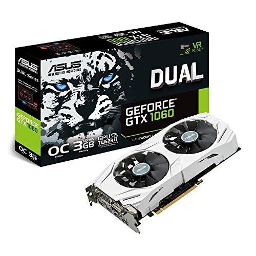 Foto Asus DUAL-GTX1060-O3G Scheda Grafica OC Edition, Geforce GTX1060, 3 GB GDDR5, 4K