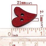 Vosarea 100 stücke Herzform 2 Löcher Holzknöpfe Sewing Craft Scrapbooking (Zufällige Farbe)