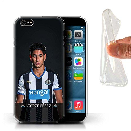 Officiel Newcastle United FC Coque / Etui Gel TPU pour Apple iPhone 6S+/Plus / Pack 25pcs Design / NUFC Joueur Football 15/16 Collection Ayoze