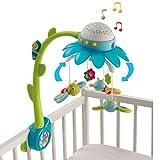 #0618 Motorbetriebenes Musikmobile mit Licht und 4 verschiedenen Melodien • Baby Mobile Musik Spieluhr Spielzeug Deckenprojektor Lichtprojektor