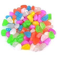 WINOMO 100pcs guijarros luminoso adoquines piedras para acuario peces tanque grava adornos para jardin patio
