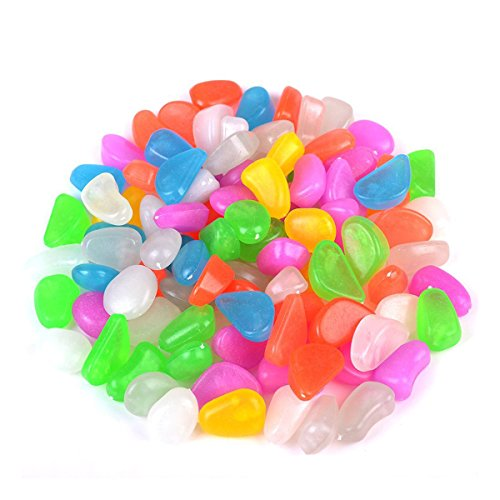 WINOMO 100pcs cailloux lumineux pavés pierres pour Aquarium gravier décorations pour jardin