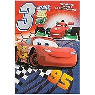 Hallmark Disney Cars 3rd Birthday Card Ready Set Go - Medium