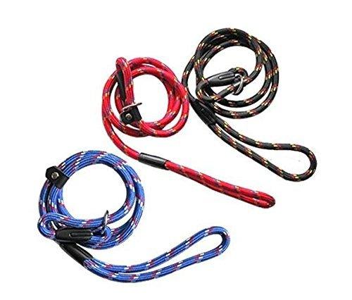 erioctry Pet Dog Nylon Adjustable Loop Slip Traning Leash Lead Rope Slip Dog Leash and Collar 1.2m Red 3