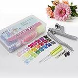 BAYTTER® 350 Set T5 SNAPS Druckknopf mit Zange Druckknöpfe 25 Farben Nähfrei Buttons