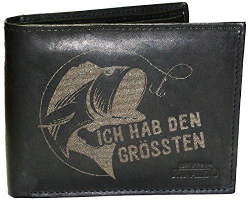 Wotan Textil Ich hab den grössten - Herrengeldbörse Rindleder