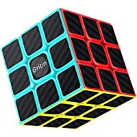 Magic Cube, Gritin 3x3x3 Smooth Speed Cube 3D Puzzles Cube With Vivid Color Carbon Fiber Surface - Ultra Durable and Flexible Easy Turning for Brain