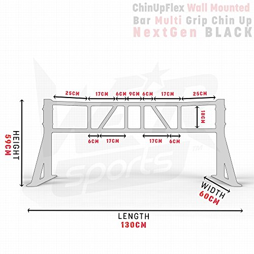 We-R-Sports-Wall-Mounted-Multi-Grip-Chin-Up-Bar-Crossfit-Strength-Training-Exercise-Workout