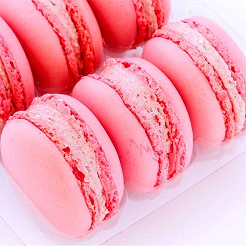 Ilze's Chocolat box of 9 Strawberry Macaroons with Real Strawberry Buttercream Test