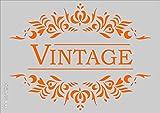 Plantilla para manualidades, diseño vintage, tamaño A5,148x 210mm