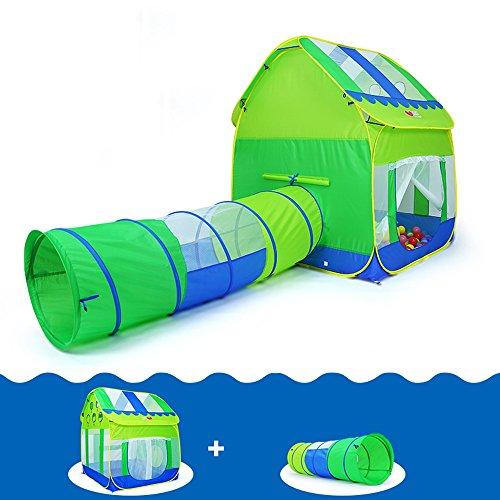 Pop-up Tienda de campaña de los niños, Azul y Verde Modelado Ocean Ball Casa Tendas Transpirables Interior y Exterior Juguetes Big Tent (no Incluye Ocean Ball) (Tamaño : #B)