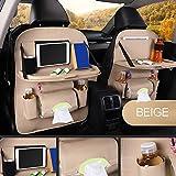 Dandeliondeme Auto Sedile Posteriore Bag, Multitasche Durevole in Similpelle per Sedile Posteriore portaoggetti da Pranzo Rack Organizer Holder 50x 65cm