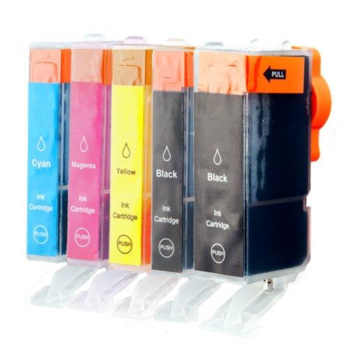 Preisvergleich Produktbild 5 PlatinumSerie Druckerpatronen XL mit Chip für Canon PGI-5BK CLI-8BK CLI-8C CLI-8M CLI-8Y Z.B. für für Canon Pixma IP 4500 X,MX 700,IP 5200 R,MP 500,MP 800,IP 4200 X,IP 4500,MP 600,MP 810,MP 600 R,IP 5300,IP 4300,MX 850,MP 530,MP 800 R,MP 830,IP 4200,IP 6700 D,IP 6600,IP 6600 D,Pro 9000 Mark II,Pro 9000,IP 3500,MP 510,IP 3300,IX 5000,IX 4000 R,IX 4000,MP 970,MP 520,MP 520 X,MP 610,IP 5200