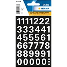 Herma 15558 Numbers 15 mm 0-9 Weatherproof Film White