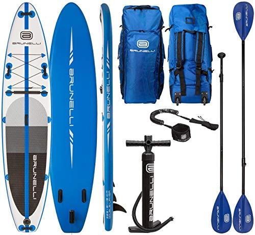 Brunelli 12.0 Monster Premium SUP Board Stand Up Paddle Surf-Board aufblasbar Paddel ISUP 365cm