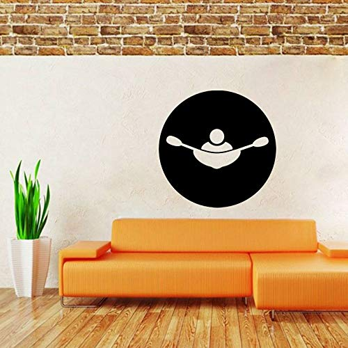 zhuziji Mode Rudern Wandaufkleber PVC Wohnzimmer Das Schlafzimmer Abziehbilder Personalisierte Abziehbilder 88A-1 66x66 cm