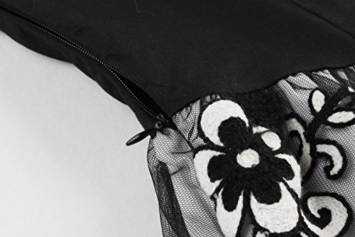 VERNASSA Femmes Robes De Soirée Courte Robes De Bal En Dentelle, Filles Des Années 50 Rétro De Bal De Bal De Promo Robe De Demoiselle D'Honneur, Multicolore, S-XXXXL Black03