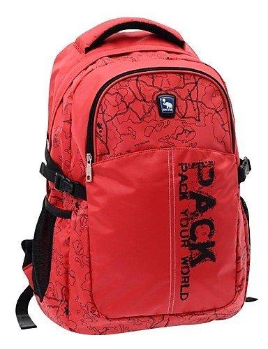 GXS OIWAS Outdoor-Aktivitäten Doppel-Schulter-Rucksack-Tasche Black